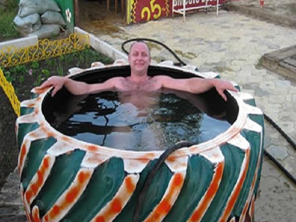 Как сделать бассейн из ската своими руками 100