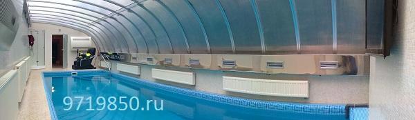 Вентиляция бассейна, воздуховоды из нержавейки, фото