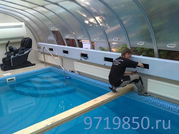 Воздуховоды из нержавейки для бассейна, фото